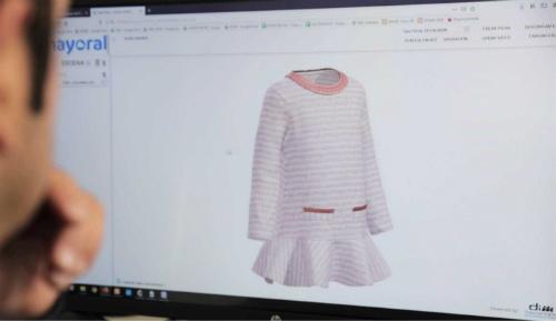 Diseño en ordenador de prenda de ropa